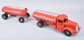 Smith Miller Mobiloil Tanker Truck & Trailer