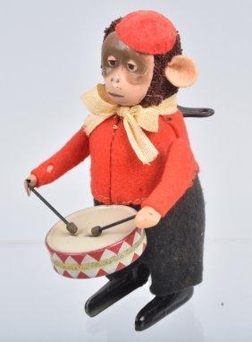 Schuco Windup Monkey Drummer