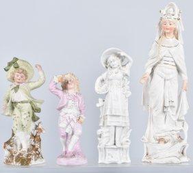 Lot Of 4 German Bisque Figurines