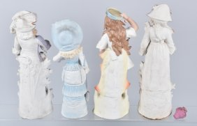 Lot Of 4 German Large Bisque Figurines