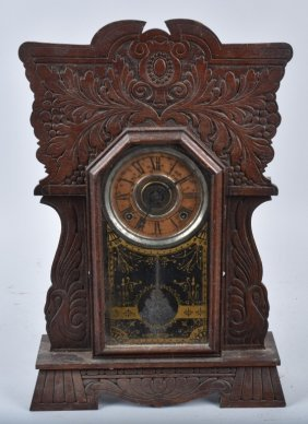 Antique Sessions Oak Kitchen Clock & Alarm