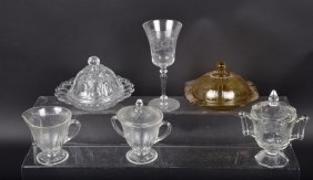 Lot Of Depression Glass & More