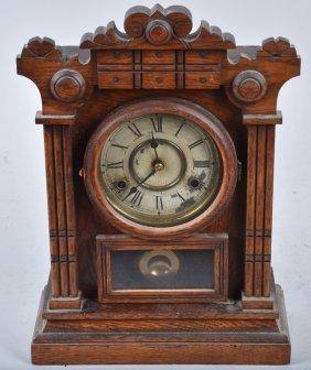 Antique New Haven Cabinet Shelf Clock