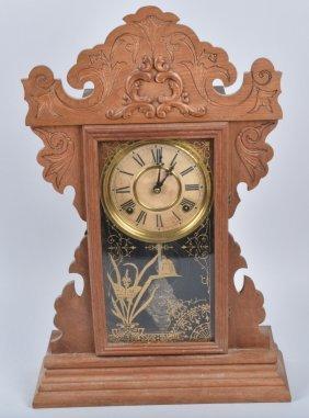 Antique Welch Oak Kitchen Clock