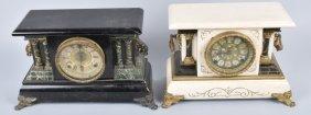Lot Of 2 Antique Ornate Shelf Clocks