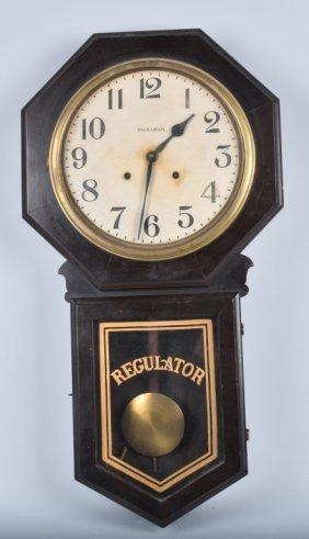 Antique Ingraham Regulator Wall Clock