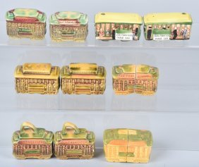 Lot Of Ceramic Trolley Salt & Peppers