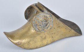 Early Ornate Brass Horse Riding Boot Stirrup