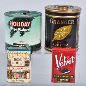 4- Vintage Tobacco Tins