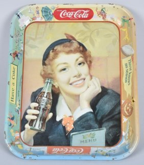 Original Tin Coca Cola Serving Tray