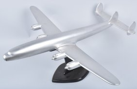 "33"" Cast Aluminum 4-prop Airplane Desk Model"