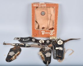 Cap Guns, Holster, & Western Set