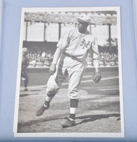 3- Original Baseball Photes W/ Babe Ruth & More