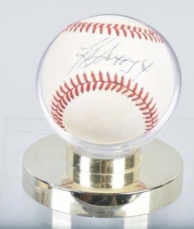 Ken Griffy Jr Autographed Baseball