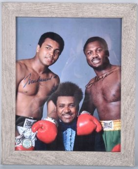 Muhammad Ali & Joe Frazer Autographed Pic W/cert