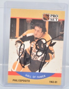 Phil Esposito Autographed Hockey Card