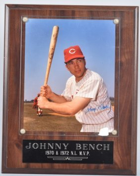 Johnny Bench Autographed Picture