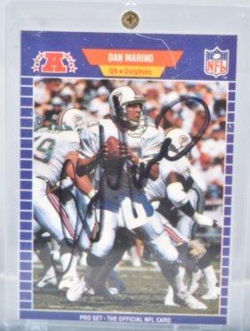 Dan Marino Autographed Football Card