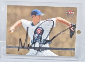 Mark Prior Autographed Baseball Card
