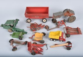 Large Lot Of Farm Toys