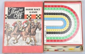Parker Bros. They're Off Horse Race Game W/ Box