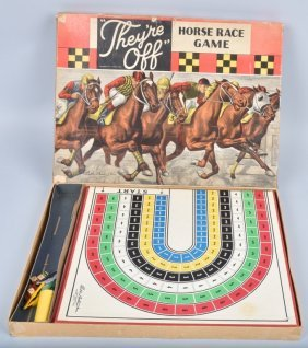 Parker Bros They're Off Horse Race Game