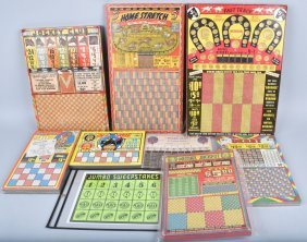 Lot Of Horse Race Sweepstake Puncg Board Games