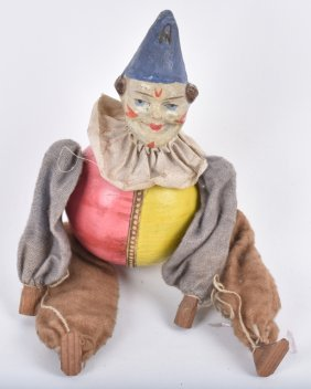 Paper Mache Roly Poly Style Clown