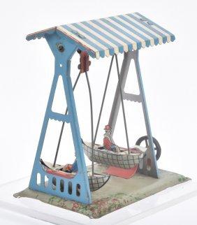 German Steam Accessory Boy & Girl In Boat Swings
