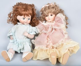 Two Large Bisque Artist Dolls