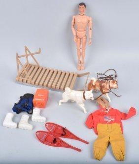 Gi Joe Fight For Survival Dog Sled Set W/ Figure