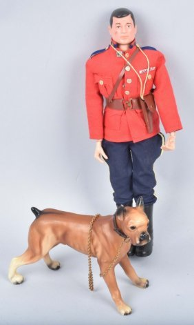 "12"" Gi Joe In Mountie Outfit W/ Dog"