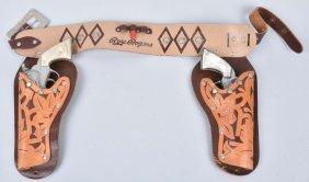 2- Kilgore Roy Rogers Cap Guns & Holster Set