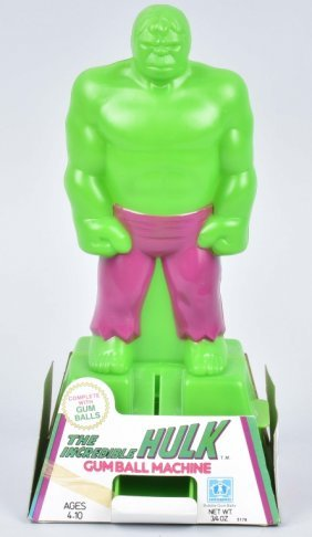 1980 Incredible Hulk Gumball Machine Mib