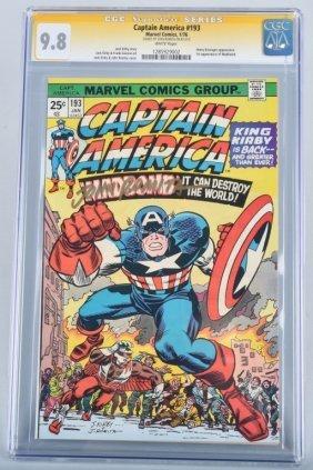 Captain America #193 Cgc 9.8 Signed John Romita