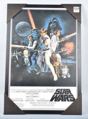 Star Wars Replica Poster In Frame W/ Box
