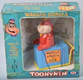 1965 Ideal Windup Magilla Gorilla Toonykin Mib