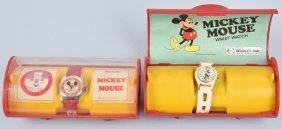 2- Bardley Mickey Mouse Watches W/ Box