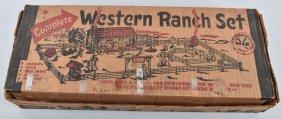 Marx Western Ranch Play Set W/box