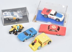 Vintage Ho Slot Cars Group Of 6