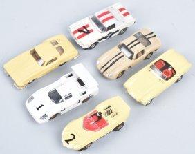 Vintage Ho Aurora Slot Cars Group Of 6