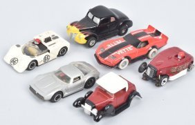 Vintage Ho Tyco Slot Cars Group Of 5 Plus Body