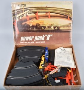 "Eldon 1/32 Scale Power Pack ""8"" Road Race Set"