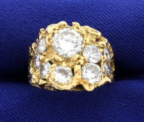 Ladies 14k Diamond Ring With Almost 3.5 Ct Of Diamonds