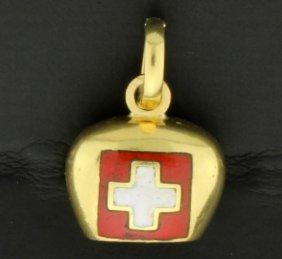 18k Swiss Bell Pendant