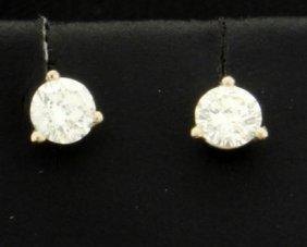 Diamond 0.40 Carat 14k White Gold Martini Stud Earrings