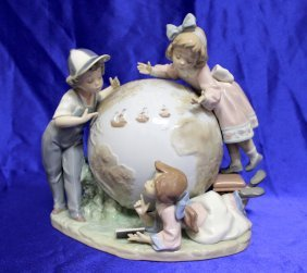 "Lladro Figurine ""the Voyage Of Columbus"""