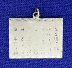 Sterling Silver Calendar Pendant