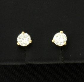 1/2 Carat 14k Yellow Stud Earrings