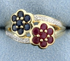 Diamond, Sapphire, & Ruby Ring